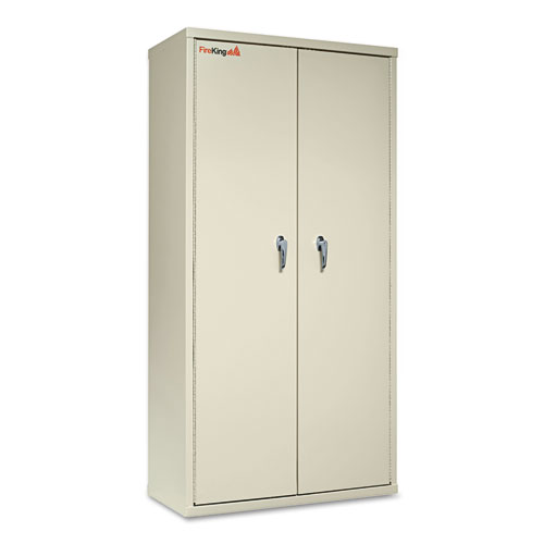 Storage Cabinet, 36w x 19 1/4d x 72h, UL Listed 350 Degree, Parchment. Picture 2