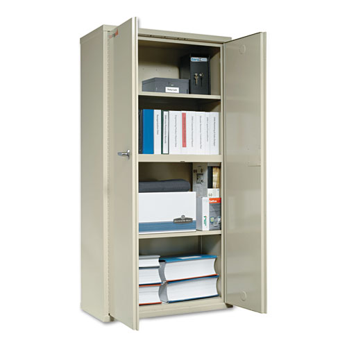 Storage Cabinet, 36w x 19 1/4d x 72h, UL Listed 350 Degree, Parchment. Picture 3