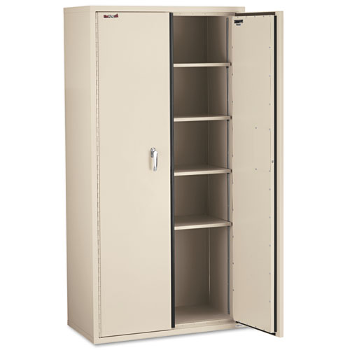 Storage Cabinet, 36w x 19 1/4d x 72h, UL Listed 350 Degree, Parchment. Picture 4