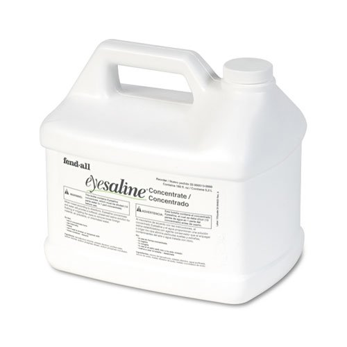 Fendall Eyesaline Stream II Eyewash Station Refill, 180 oz Bottles, 4/Carton. Picture 1