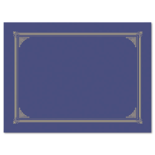 Certificate/Document Cover, 12 1/2 x 9 3/4, Metallic Blue, 6/Pack. Picture 1