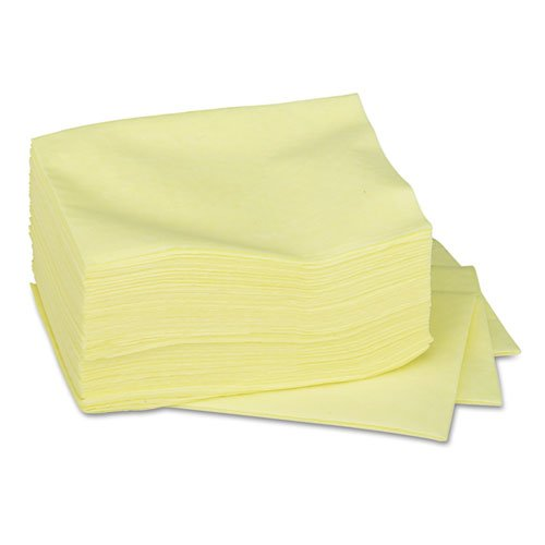 Dusting Cloths Quarterfold, 17 x 24, Yellow, 50/Pack, 4 Packs/Carton. Picture 3