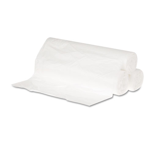 """High Density Can Liners, 10 gal, 6 microns, 24"""" x 23"""", Natural, 1,000/Carton. Picture 1"""