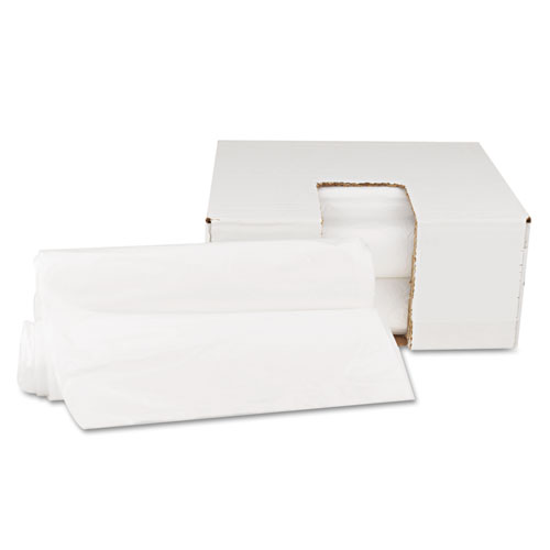 """High Density Can Liners, 10 gal, 6 microns, 24"""" x 23"""", Natural, 1,000/Carton. Picture 2"""