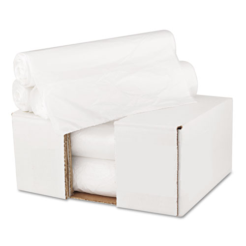 """High Density Can Liners, 10 gal, 6 microns, 24"""" x 23"""", Natural, 1,000/Carton. Picture 6"""