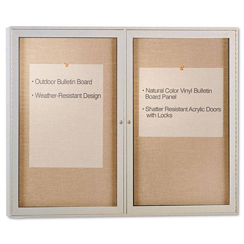 Enclosed Outdoor Bulletin Board, 48 x 36, Satin Finish. Picture 1