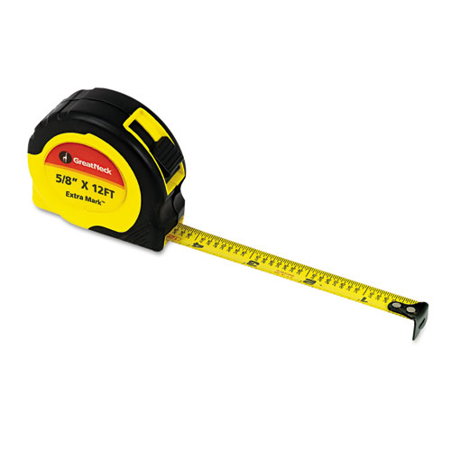 """ExtraMark Power Tape, 5/8"""" x 12ft, Steel, Yellow/Black. Picture 1"""
