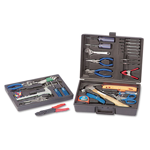 110-Piece Home/Office Tool Kit, Drop Forged Steel Tools, Black Plastic Case. Picture 2