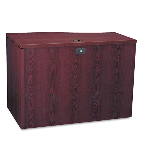 10500 Series Curved Return, Right, 42w x 18-24d x 29 1/2h, Mahogany. Picture 2