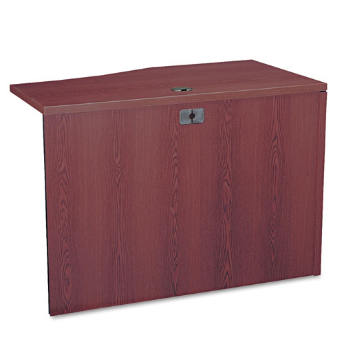 10500 Series Curved Return, Left, 42w x 18-24d x 29 1/2h, Mahogany. Picture 2