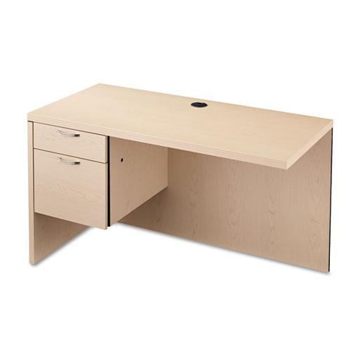 Valido Series Left Return, 48w x 24d x 29 1/2h, Natural Maple. Picture 1