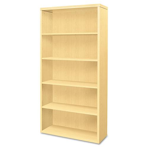 Valido Series Bookcase, Five-Shelf, 36w x 13-1/8d x 71h, Natural Maple. Picture 1