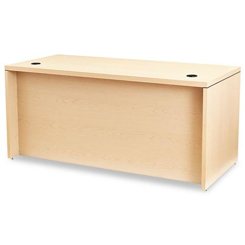 Valido Series Right Pedestal Desk, 66w x 30d x 29.5h, Natural Maple. Picture 2