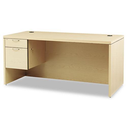 Valido Series Left Pedestal Desk, 66w x 30d x 29.5h, Natural Maple. Picture 1