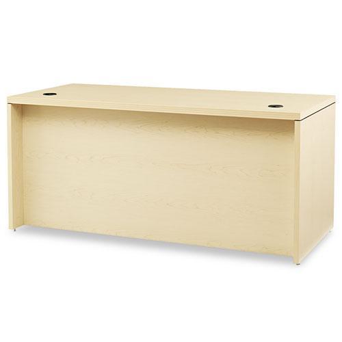 Valido Series Left Pedestal Desk, 66w x 30d x 29.5h, Natural Maple. Picture 2