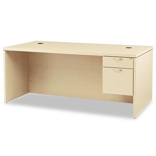 Valido Series Right Pedestal Desk, 72w x 36d x 29.5h, Natural Maple. Picture 1
