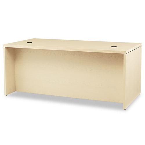 Valido Series Right Pedestal Desk, 72w x 36d x 29.5h, Natural Maple. Picture 2