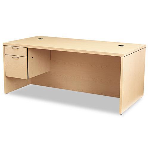 Valido Series Left Pedestal Desk, 72w x 36d x 29.5h, Natural Maple. Picture 1