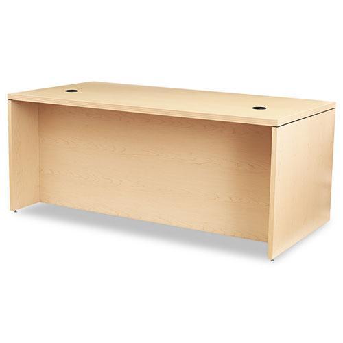 Valido Series Left Pedestal Desk, 72w x 36d x 29.5h, Natural Maple. Picture 2