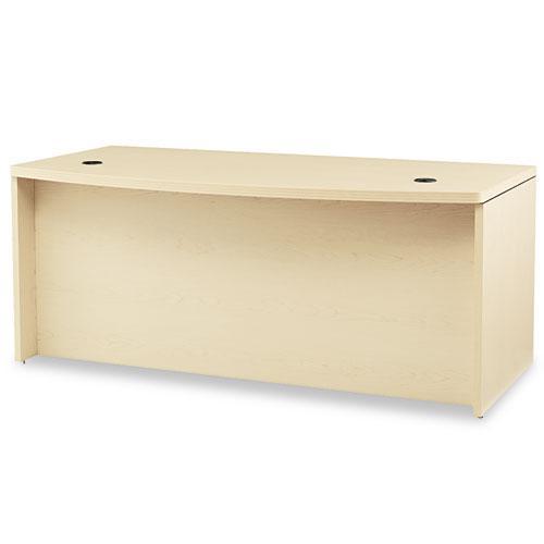 Valido Series Bow Top Double Pedestal Desk, 72w x 36d x 29.5h, Natural Maple. Picture 2