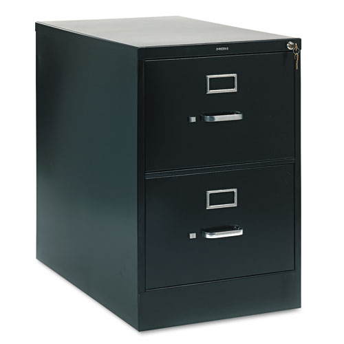 210 Series Two-Drawer, Full-Suspension File, Legal, 28-1/2d, Black. Picture 1