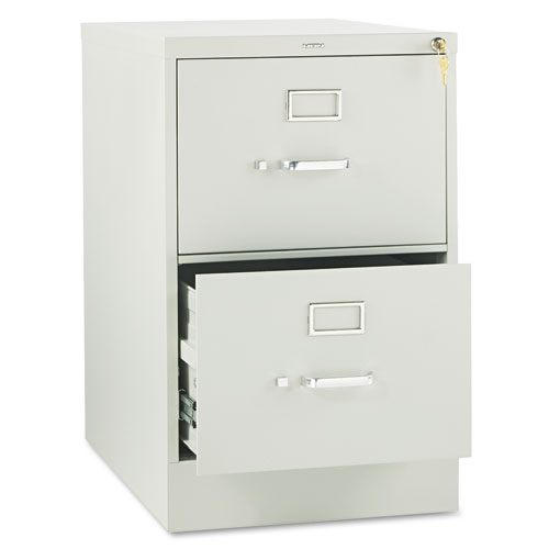 310 Series Two-Drawer Full-Suspension File, Legal, 18.25w x 26.5d x 29h, Light Gray. Picture 1