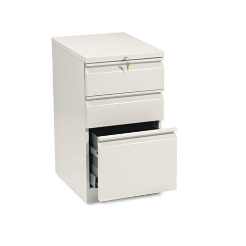 Efficiencies Mobile Box/Box/File Pedestal, 15w x 19.88d x 28h, Putty. Picture 1