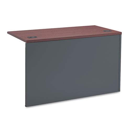 38000 Series Flush Return, Left, 48w x 24d x 29-1/2h, Mahogany/Charcoal. Picture 2