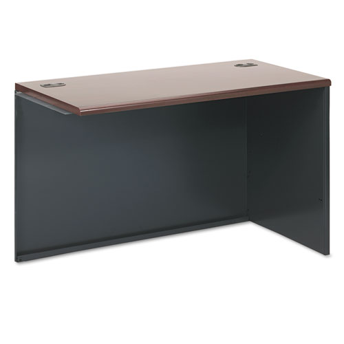 38000 Series Return Shell, Right, 48w x 24d x 29-1/2h, Mahogany/Charcoal. Picture 1
