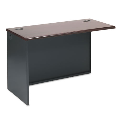 38000 Series Return Shell, Left, 48w x 24d x 29-1/2h, Mahogany/Charcoal. Picture 1