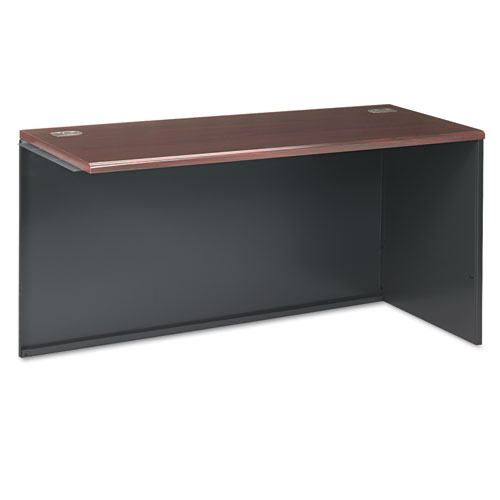 38000 Series Return Shell, Right, 60w x 24d x 29-1/2h, Mahogany/Charcoal. Picture 1