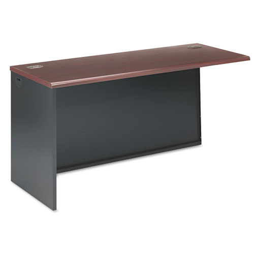 38000 Series Return Shell, Left, 60w x 24d x 29-1/2h, Mahogany/Charcoal. Picture 1