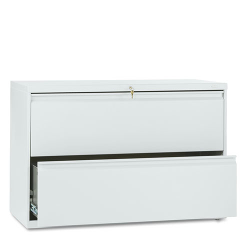 800 Series Two-Drawer Lateral File, 42w x 19-1/4d x 28-3/8h, Light Gray. Picture 1