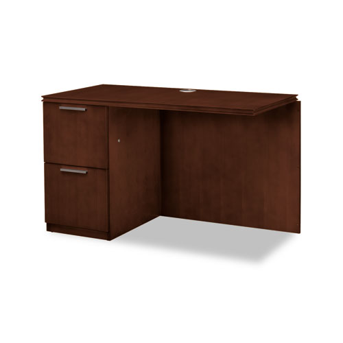 Arrive Left Return For Right Pedestal Desk, 48w x 24d x 29-1/2h, Shaker Cherry. Picture 1