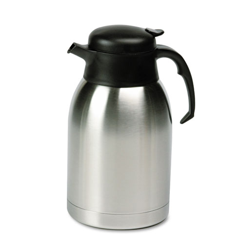 Stainless Steel Lined Vacuum Carafe, 1.9L, Satin Finish/Black Trim. Picture 1