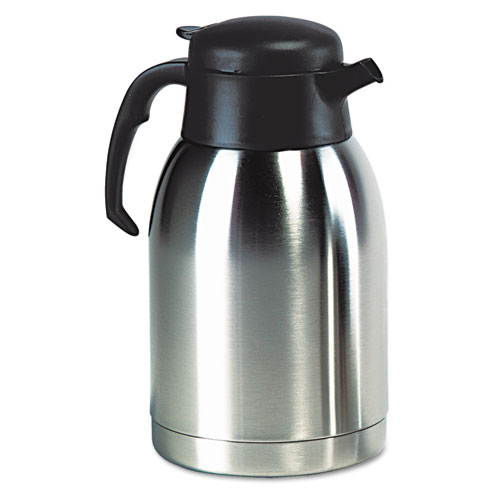 Stainless Steel Lined Vacuum Carafe, 1.9L, Satin Finish/Black Trim. Picture 2