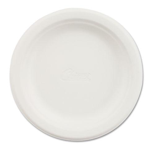 """Paper Dinnerware, Plate, 6"""" dia, White, 1000/Carton. Picture 1"""
