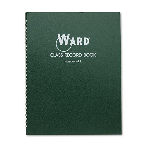 Class Record Book, 38 Students, 6-7 Week Grading, 11 x 8-1/2, Green. Picture 1