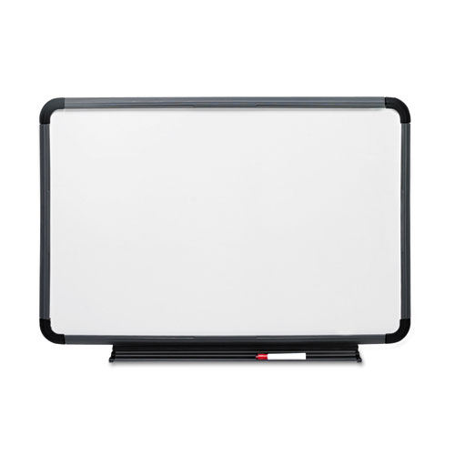 DRY ERASE BOARD, BLOW MOLD FRAME, 48X36, Charcoal. Picture 1