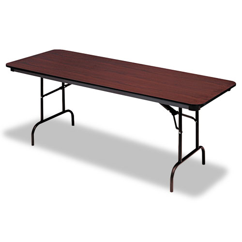 "Iceberg Premium Wood-Laminate Folding Table, 30"" x 72"", Mahogany. Picture 1"