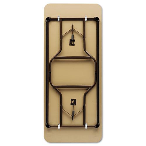"""Iceberg Economy Wood-Laminate Folding Table, 24"""" x 48"""", Walnut. Picture 2"""