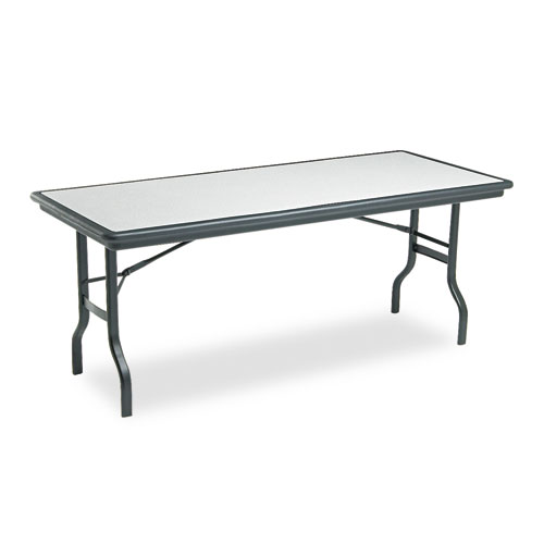"""Iceberg IndestrucTable Folding Table, 30"""" x 72"""", Granite. Picture 1"""
