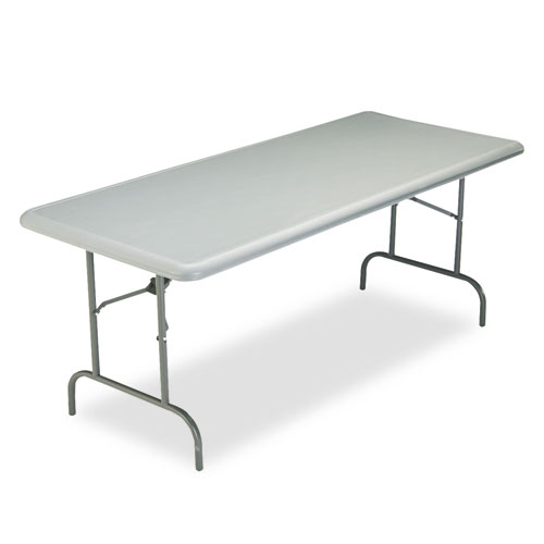 """Iceberg IndestrucTable TOO 1200 Series Folding Table, 30"""" x 72"""", Charcoal. Picture 1"""