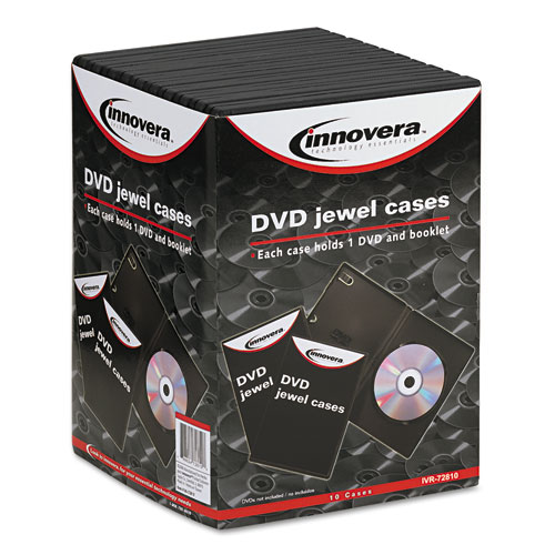 Standard DVD Case, Black, 10/Pack. Picture 3