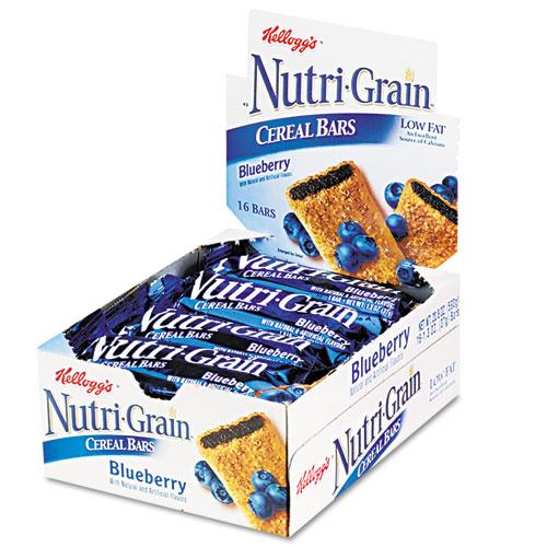 Nutri-Grain Soft Baked Breakfast Bars, Blueberry, Indv Wrapped 1.3 oz Bar, 16/Box. Picture 2