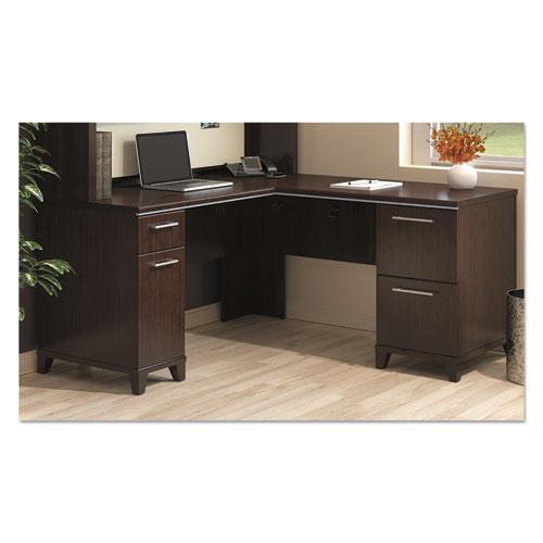 """Enterprise Collection L-Desk Surface, 60"""" x 60"""" x 29.75"""", Mocha Cherry, (Box 2 of 2). Picture 2"""