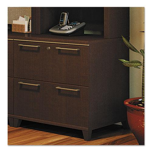 Bush Business Furniture Enterprise 30W 2 Drawer Lateral File Cabinet, Mocha Cherry. Picture 2