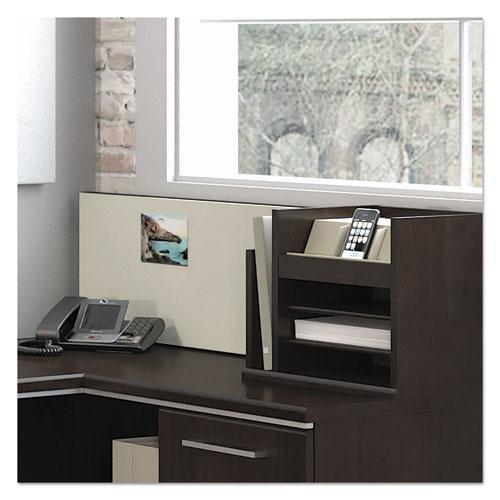 "Enterprise Collection Corner Desk, 60"" x 47.25"" x 41.75"", Mocha Cherry, (Box 2 of 2). Picture 4"