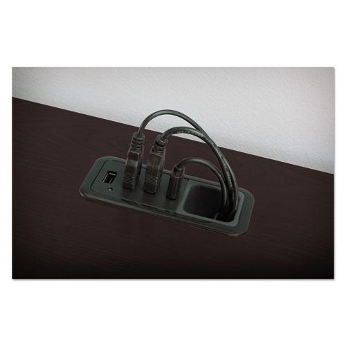"Enterprise Collection Corner Desk, 60"" x 47.25"" x 41.75"", Mocha Cherry, (Box 2 of 2). Picture 3"