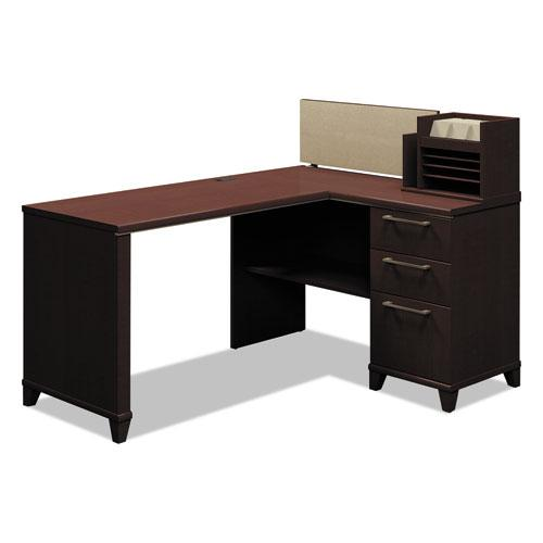 "Enterprise Collection Corner Desk, 60"" x 47.25"" x 41.75"", Mocha Cherry, (Box 2 of 2). Picture 1"